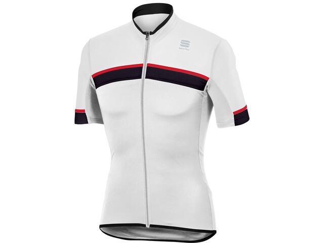 Sportful Pista Maillot manches courtes Homme, white